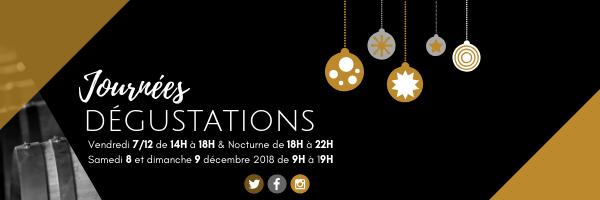 A vos agendas : journées dégustation les 7,8 et 9 décembre 2018